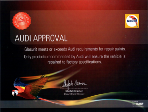 Audi Approval certificate