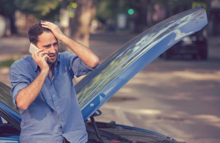 car breaking down