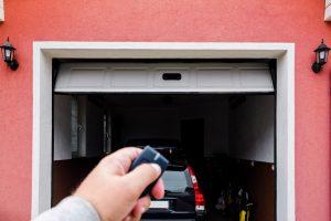 locking car in garage